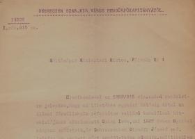 Jelentés Szász Imre református hitoktatóról (1915)