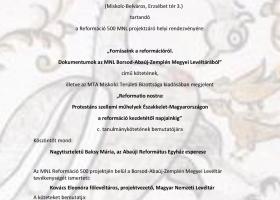 Kötetbemutató és projektzáró Miskolcon