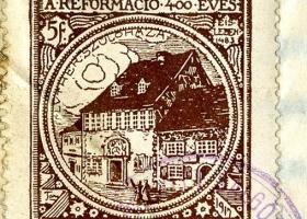 Emlékbélyeg a reformáció 400 éves évfordulójára