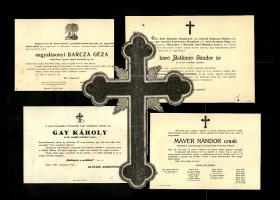 Protestáns személyek gyászjelentései a Mayer család iratanyagában