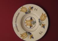 Habán kerámia tányér másolata