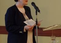 Kovács Eleonóra főlevéltáros (MNL Országos Levéltár), a Magyarországi Evangélikus Egyház Gyűjteményi Tanácsának elnöke megnyitja a rendezvényt