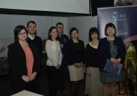 A Levéltár-pedagógiai Munkacsoport a projektvezetővel