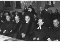 Antal Géza, Ravasz László, Soltész Elemér, Stráner Vilmos és Baltazár Dezső H. c. doktoravatása, 1929. XII. 15.