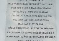 Balatonszárszó Református Templom - emléktábla az 1943. évi Szárszói Konferencia emlékére