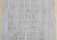 Békéscsabai Evangélikus Kistemplom - emléktábla