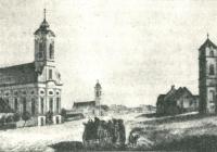 Békéscsaba főtere az 1830-40-es években Haan Lajos rajzán