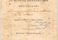 Karsay Sándor – Czékus István: Agenda. I. Budapest 1889.