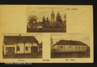 A templom és iskola egy 1949-ben keltezett képeslapon