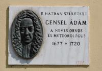 Gensel Ádám emléktábla