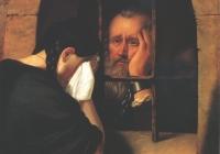 Jablonczai Pethes János leányától búcsúzik a leopoldvári tömlöc ablakánál 1674-ben 1846.