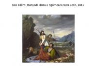 Hunyadi János a rigómezei csata után, 1841.