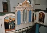 Az orgona bal oldalon Nathan próféta. A karzat  indító képe.Az angyali üdvözlet is jól látszik