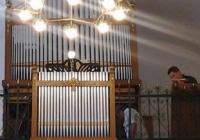 A mohácsi református templom felújított Angster orgonája.