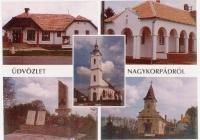 Nagykorpádi református templom - képeslap