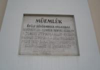 Orosházi Evangélikus Templom - emléktábla