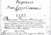 Az első kollégiumi törvények