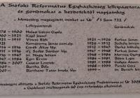 Siófok  Református Templom - emléktábla