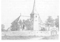 A templom a XIX. sz. közepén ( Raskovics rajza alapján )