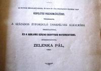 """""""Emléklapok a miskolczi ág. hitv. evang. anyaegyház évszázados életkönyvéből"""" c. mű címlapja"""