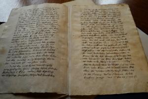 A Melanchthon-Schule Márton-napi látogatása az Országos Levéltárban
