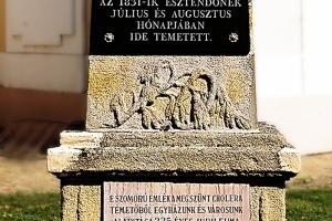 Emlékmű a kolerajárvány áldozatainak emlékére Orosházán