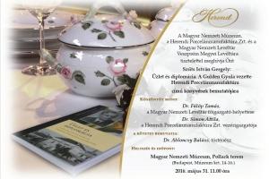 Üzlet és diplomácia - könyv a herendi porcelánmanufaktúráról