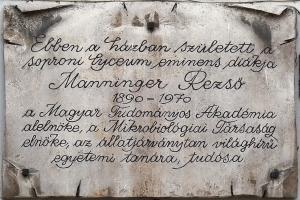 Manninger Rezső emléktábla