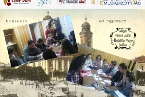 Levéltár-pedagógiai foglalkozások Debrecenben