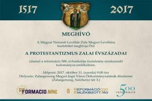 Meghívó - A protestantizmus zalai évszázadai tudományos emlékülés
