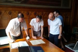 A lett levéltári delegáció látogatása