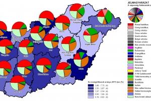 Felekezeti adatok térképekkel II. - Evangélikusok megyénként