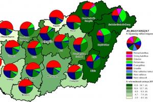 Felekezeti adatok térképekkel III. - Reformátusok megyénként