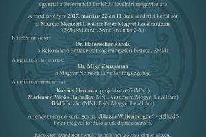 """""""Vissza a forrásokhoz"""" - az MNL vándorkiállításának megnyitója Székesfehérváron"""