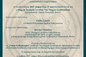 Kiállításmegnyitó, díjátadó és levéltár-pedagógiai oktatócsomag bemutatója Vas megyében