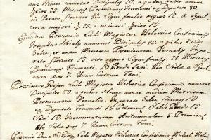 1789. évi iskolai összeírás Faddról