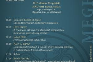 Református hagyományoka Dunántúlon - konferencia Pápán