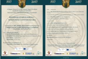 Meghívó a Reformáció Nógrádban című nemzetközi konferenciára