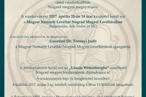 """""""Vissza a forrásokhoz vándorkiállítás megnyitója és az """"Utazás Wittenbergbe"""" vetélkedő eredményhirdetése"""