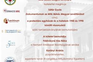 Meghívó - Könyvbemutató: Dokumentumok az MNL Békés Megyei Levéltárából