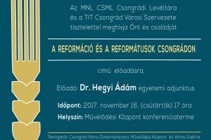 A reformáció és a reformátusok Csongrádon - előadás