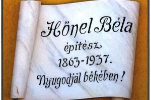 Hőnel Béla evangélikus építész, ipartestületi elnök emléktáblájának felavatása Mosonmagyaróváron