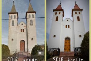 Somogymeggyesi Evangélikus Templom 2012. és 2016.