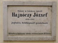 Hajnóczy József - Sopron Templom u 19