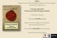Meghívó – Forrásaink a reformációról dokumentumkötet bemutatója