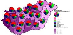 Felekezeti adatok térképekkel IV. - Római katolikusok megyénként