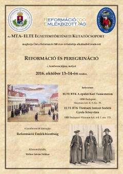 Reformáció és peregrináció - konferencia az ELTE-n
