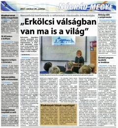 Reformáció Nógrádban c. nemzetközi konferencia a médiában