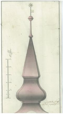 """A """"ménykő által meg űttetett"""" túrkevei református templom tornya"""