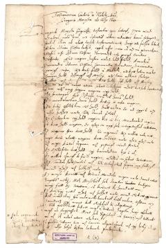 Protestáns hétköznapok - Mórocza Gergely végrendelete, 1586